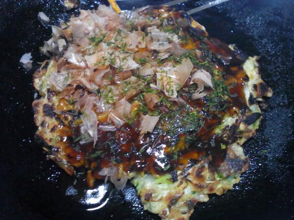豆腐のふわトロお好み焼き