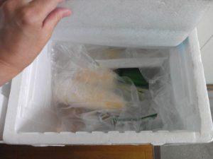 冷蔵の箱の中