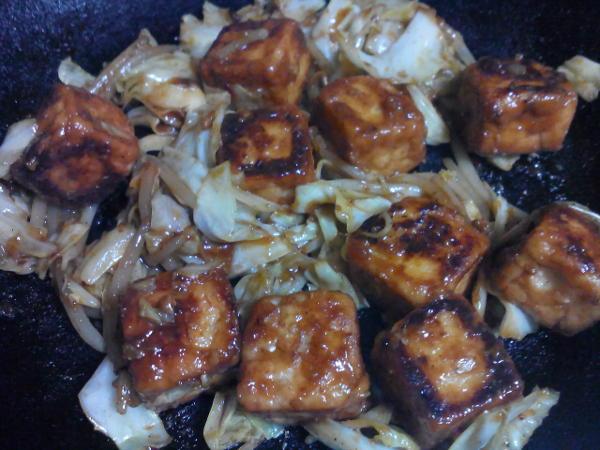 厚揚げの肉味噌炒め 完成